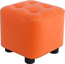 ZHZHUANG Footstool Faux Leather Upholstered