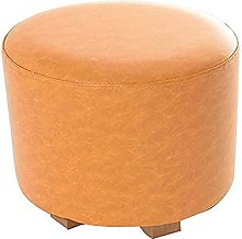 ZHZHUANG Footstools Padded Pu Leather Tea Stool