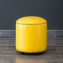 ZHZHUANG Footstools Round Upholstered Footstool