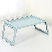 ZHZHUANG Modern Desk Foldable Table with Groove