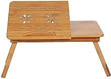 ZHZHUANG Portable Bamboo Computer Desk Rack Shelf