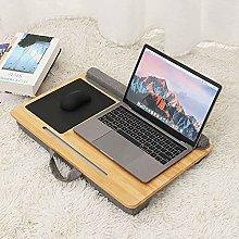 ZHZHUANG Portable Bamboo Laptop Desk Laptop Table