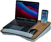 ZHZHUANG Portable Lap Desk with Pillow Cushion,