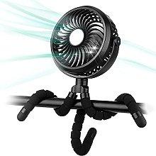 ZHZHUANG Stroller Fan, USB Handheld Fan Desk Fan