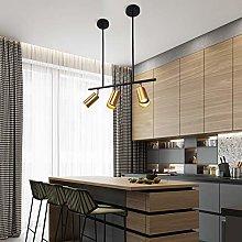ZICBOL Modern Gold Pendant Light Ceiling, 100cm
