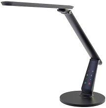 Zig LED desk lamp with control panel, black