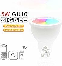 ZigBee Bulb LED Spotlight Dimmable GU10 Smart Bulb