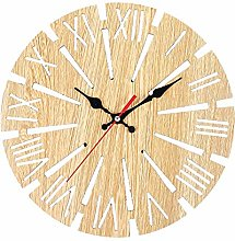 zihui Wooden Round Wall Clock European Retro