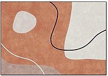 ZIJIAGE Carpet rug,Geometric color block orange