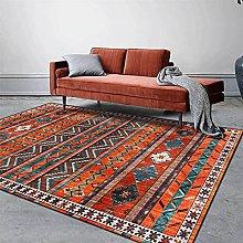 ZIJIAGE Living room carpet,Vintage Rug,Geometric