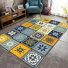 ZIJIAGE Modern Carpet,Area Rug,Color stitching