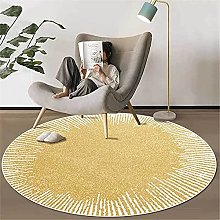 ZIJIAGE Rug carpet,Golden yellow abstract white