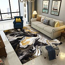 ZIJIAGE Rug carpet,Modern abstract yellow marble