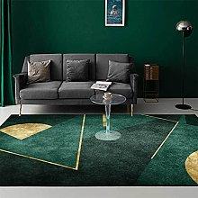 ZIJIAGE Rug carpet,Modern green simple golden