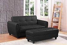 Zinc 2 Seater Sofa Bed with Hidden Storage and