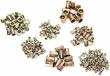 Zinc Rivet Nut, 220Pcs Rivet Nuts M3/4/5/6/8/10/12