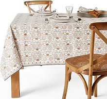 Zinnia Linen / Washed Cotton Patterned Tablecloth