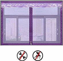 Zipper Screen Mesh Window Curtain,selfadhesive