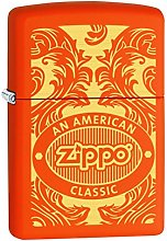 Zippo 60000366 Scroll Brass Lighter 3.5 x 1 x