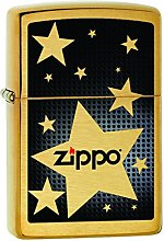 Zippo Brushed Brass 60001080 Stars Lighter 3.5 x