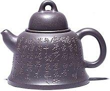 Zisha Teapot 200cc Yixing Ore Green Whitewashed