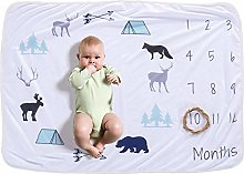 ZIXERN Monthly Milestone Blanket Baby Monthly