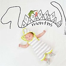 ZIXERN Monthly Milestone Blanket Baby Photo