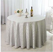 ZIXING Fashion Circular Tablecloth, Jacquard Round