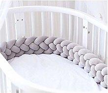 ZIYEYE Handmade Braided Cot Bumper Baby Head Guard