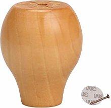 zj01123 4pcs Wooden Furniture Feet, Round Bread