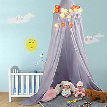 ZJchao Children Bed Canopy Round Dome Mosquito Net