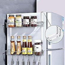 Zjcpow Fridge Spice Rack Refrigerator Side Towel