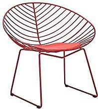 ZJDM Wrought iron bar chair Bar front desk stool