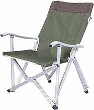 ZJDU Camping chair Folding Aluminum Alloy Light