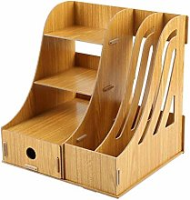 ZJHCC File Magazine Holder Wooden File Rack