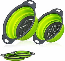 ZJHCC Sieve Strainer 2 Pcs Collapsible Silicone