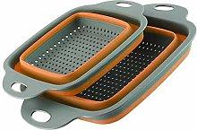 ZJHCC Sieve Strainer 2pcs/Set Foldable Silicone