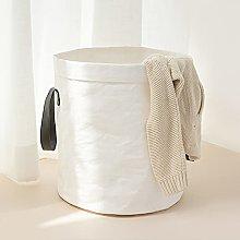 ZJJ Folding Laundry Basket Waterproof Storage Bin