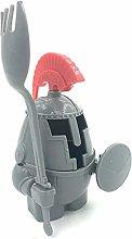 ZJJ Plastic Egg Cup Creative Detachable Knight Egg