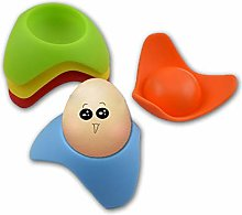 ZJJ Silicone Egg Cup Set of 4 Personalized