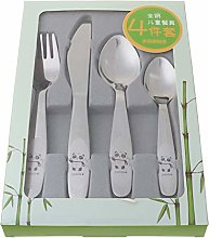 ZJL220 4pcs/set Baby Teaspoon Spoon Food Feeding