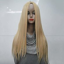 ZJM Premium Wigs Long Straight Wig, Thick Natural
