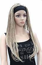 ZJM Soft and Lightweight Braided Wig, Natural Look