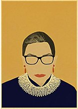 ZJYWYCN Poster Famous Ruth Bader Ginsburg Picture