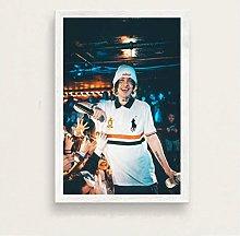 ZJYWYCN Poster Modern Art Home Decor Rap Singer