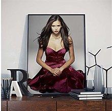 ZJYWYCN Poster Movie Star Beauty Nina Dobrev