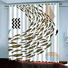 ZJZWLW Blackout Curtain For Bedroom 59X65 Inch