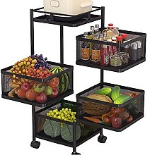ZKHD Rotatable Kitchen Trolleys with Wheels