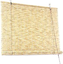 ZKORN Bamboo Blinds Reed Curtain Roller Blind,