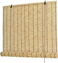 ZKORN Natural Reed Curtain,Roll Up Shades for